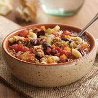 Try bean soup for a filling and healthy snack