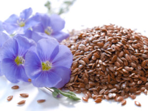 Flaxseeds contain healthy fats