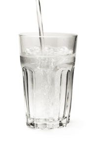 Glass of fresh cold water