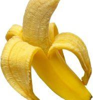 Single peeled banana