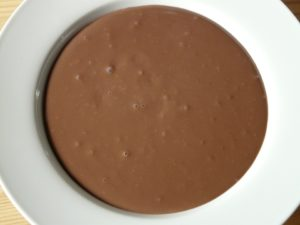 High protein whey chocolate pudding