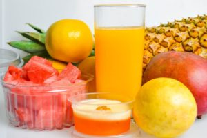 Mixture of Different Fruits Used For Making Fruits Juices