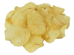 Crisps are high in calories