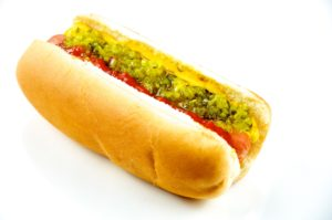 A hot dog has little nutritional value and is high in bad fats