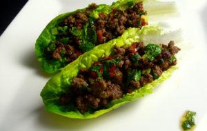 A Beef Lettuce Wrap